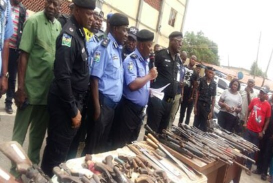 Police seize 188 guns,others in Lagos