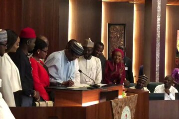 BREAKING: Buhari finally signs Not Too Young To Run Bill