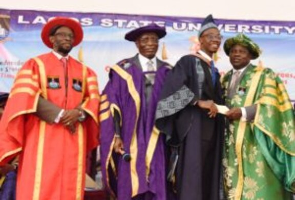 AMBODE GRANTS SCHOLARSHIP, N5MILLION CASH REWARD TO BEST LASU GRADUATING STUDENT