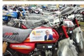 National Sweetheart…Femi Gbajabiamilia donates  30 new buses, 160 motorcycles, 25 Tricycles To his constituents