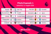 Premier League fixtures for 2018/19 announced