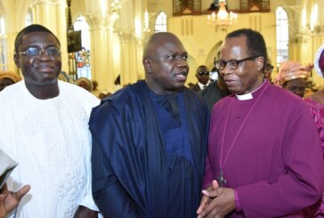 AMBODE, OBASEKI, OTHERS CELEBRATE RETIRING CLERGY, ADEMOWO AT 70