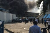 VIDEO: Diesel tanker explosion causes fire outbreak around EcoBank Head Office in Lagos (UPDATED)