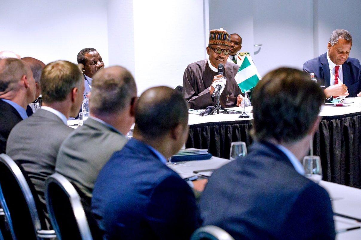 president buhari at ICC