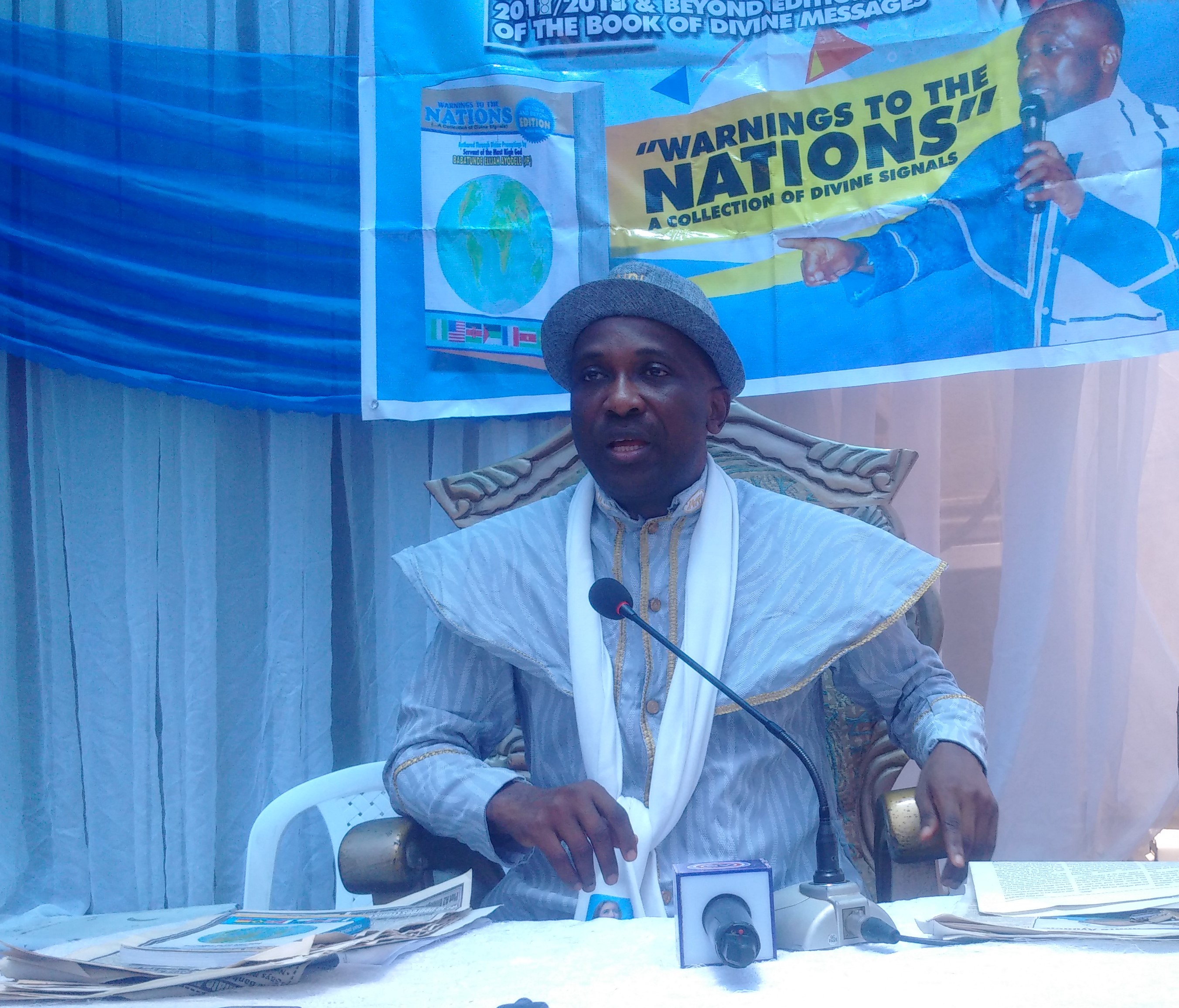 Primate Ayodele at press conference