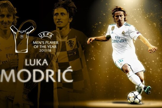Modric defeats Ronaldo, Salah to win UEFA Best Player Award