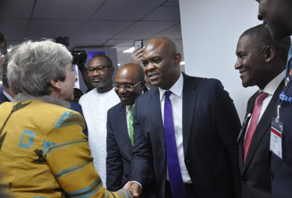 Dangote, Otedola, Elumelu others meet Theresa May in Lagos