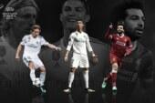 Ronaldo, Salah, Modric Up For UEFA Player Of The Year