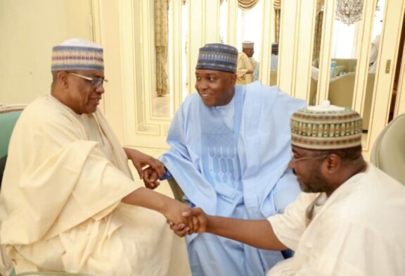 2019 Elections: 'Your Father supported me, I will Support you' IBB Assures Saraki (VIDEO)