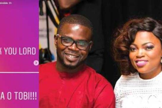 BREAKING: Funke Akindele Welcomes 1st Child With Husband JJC Skillz In The US