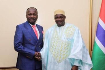 The Gambian President Hosts, Eulogises Apostle Johnson Suleman