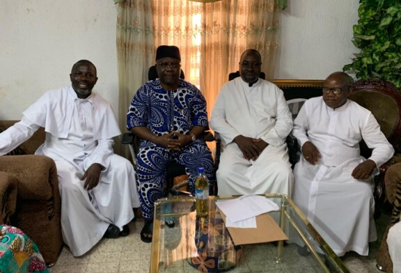 Photo News :Senator Omisore Hosts Reverend Fathers On Easter Monday