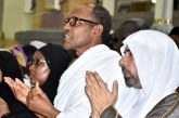 PHOTOS: Buhari, Aisha Perform Umrah Rites