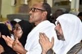 PHOTOS: Buhari, Aisha Perform Umrah Rites