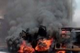JUST IN: Pandemonium As Fire Razes Tejuosho Market (VIDEO)