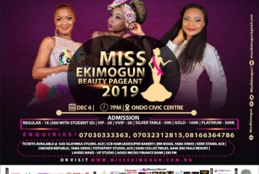 Excitement As Grand Finale Of Miss Ekimogun 2019 Holds December