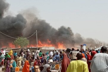 Fire Outbreak In Borno IDP Camp Leaves 14 Dead