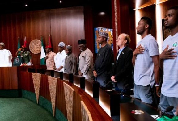 Buhari to Super Eagles: This is our time, we look up to you