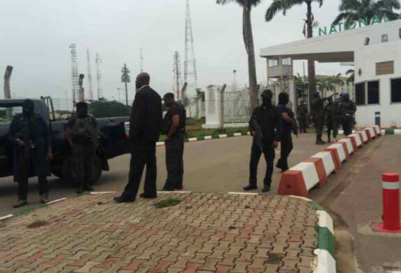 BREAKING: Masked SSS lay siege on National Assembly