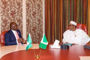 Lagos 2019: Buhari meeting Lagos governor in Aso Rock