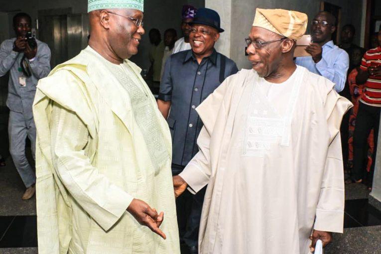 Former President, Olusegun Obasanjo and Atiku Abubakar