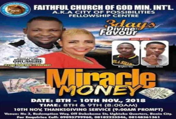 Popular Edo Female Pastor Dies 4 Days To 'Miracle Money' Programme
