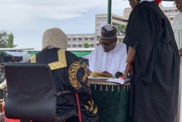 BREAKING: Buhari Sworn In For Second Term