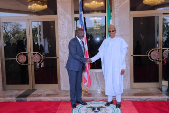 Buhari Receives Weah In Aso Rock (Photos)