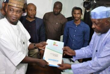 Yahaya Bello Picks Kogi Nomination Form