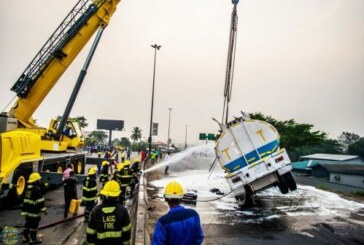 JUST IN: Another Fuel Tanker Falls In Onitsha