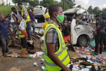 BREAKING: Many Feared Dead As Fuel Tanker Collides With Commercial Bus On Otedola Bridge