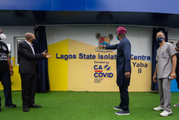 Lagos Govt Commissions 150-Bed Isolation Centre